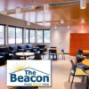 Photo of The Beacon and The Beacon logo, both from thebeaconhelps.org.