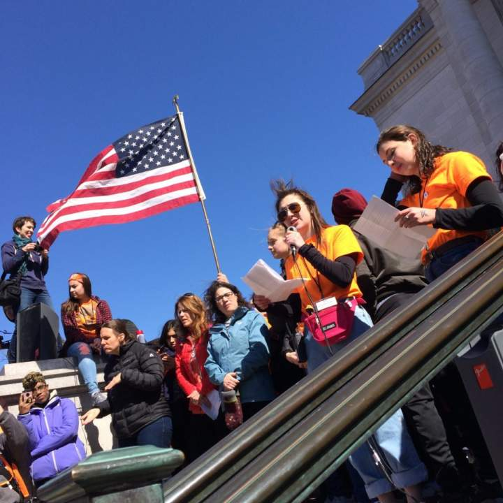 Madison Students Join Nationwide Walkout Demanding Action Against Gun Violence