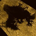 Cassini image of Ligeia Mare, a lake on Saturn's moon Titan. NASA/JPL-Caltech/ASI/Cornell