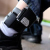 A registered sex offender shows his GPS ankle bracelet. Many such offenders on electronic monitoring become homeless because of restrictive housing laws that prohibit them from living near schools, parks and day-care centers. Photo thanks to wisconsinwatech.org