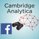 Image of modified Cambridge Analytica and Facebook logos.
