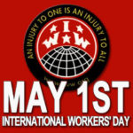 Image of graphic elements from IWW.org in celebration of International Workers' Day.