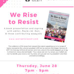 """""""We Rise to Resist"""" Book Presentation & Signing"""