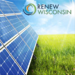 Image of solar panels and a farm field from renewwisconsin.org