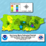Image representing Hurricane Maria rainfall amounts in Puerto Rico from NOAA.