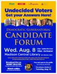 Watch tonight's Gubernatorial Candidate Forum