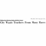 Madison In The Sixties: August – Teacher Diversity
