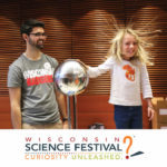 girl-static-electricity-Wisconsin-Science-Festival