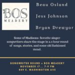 Songwriter Round at Bos Meadery